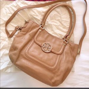 TORY BURCH Amanda Hobo/Crossbody Bag, Royal Tan